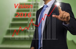 businessman with financial chart graph
